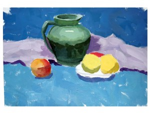 张贝尔(14岁)色彩练习作品